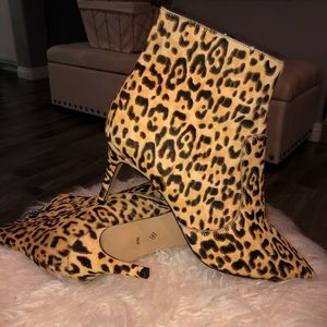 Leopard / Animal Print / Pony Hair Bootie /Boots